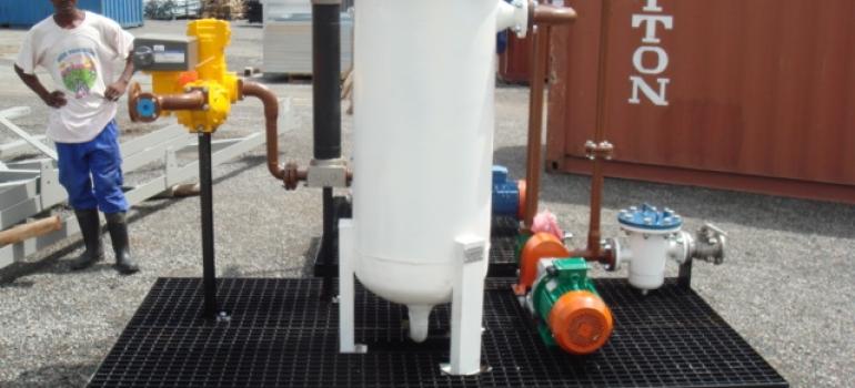 Diesel filter and pump set