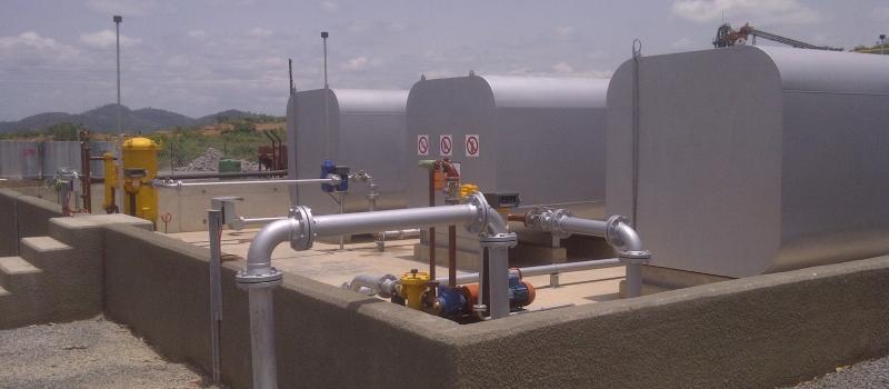 Diesel tank farm