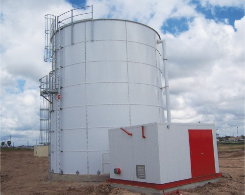 Plate tank fire water storage