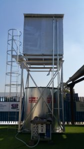 Water tower with filration system